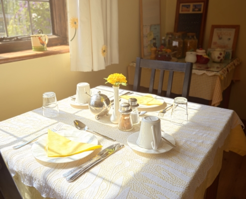 Strawberry Cottage - Breakfast Area